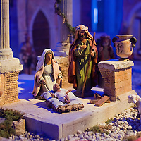 VERONA, ITALY - DECEMBER 04:  One of the nativity scenes from all over the world that are on display inside the passageways of the Roman Arena. on December 4, 2010 in Verona, Italy. Christmas markets, fairs, lights and nativity scenes fill Northern Italian cities and villages from December through January 6.