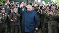 Undated photo from North Korean News Agency shows North Korean leader Kim Jong-un visiting a Korean People's Army unit, in an undisclosed location, North Korea. Photo released August 2017. Photo by Balkis Press/ABACAPRESS.COM