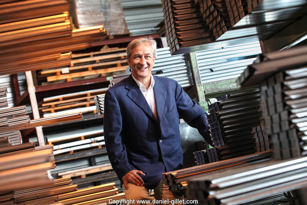 Portrait de Pierre Antoine Rouer, directeur entreprise F2A a Beligneux // Portrait of Pierre Antoine Rouer, director of the company F2A in Beligneux, France.