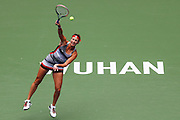WUHAN, CHINA - SEPTEMBER 28: <br /> <br /> Yaroslava Shvedova of Kazakhstan returns a shot during the women\'s singles third round match against Simona Halep of Romania on day four of the 2016 WTA Dongfeng Motor Wuhan Open at Optics Valley International Tennis Center on September 28, 2016 in Wuhan, China.<br /> ©Exclusivepix Media