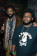 New York, NY- December 21: l to r: Twilight Tone and James Fauntleroy backstage at the Common Concert of his new Album ' The Dreamer/Believer ' held at the House of Blues  on December 21, 2011 in Los Angeles, CA. Photo Credit: Terrence Jennings
