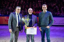 Wijnen W fokker van Explosion W<br /> KWPN hengstenkeuring - 's Hertogenbosch 2020<br /> © Hippo Foto - Leanjo de Koster<br /> 30/01/2020