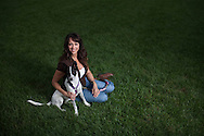 """Stephanie Watson Cooper uses her free time to help a nonprofit called """"A Home for Spot"""" to save and find homes for dogs that have been injured or were rescued from do fighting rings."""