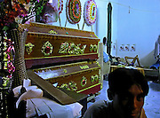 Vietnam, Dien Bien Phu : coffin seller.