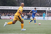 AFC Wimbledon defender Sean Kelly (22) during The FA Cup match between Sutton United and AFC Wimbledon at Gander Green Lane, Sutton, United Kingdom on 7 January 2017. Photo by Stuart Butcher.