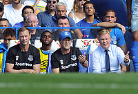 Football - 2017 / 2018 Premier League - Chelsea vs. Everton<br /> <br /> Everton Manager, Ronald Koeman with his brother and Coach, Edwin and Duncan Ferguson (left) at Stamford Bridge.<br /> <br /> COLORSPORT/ANDREW COWIE
