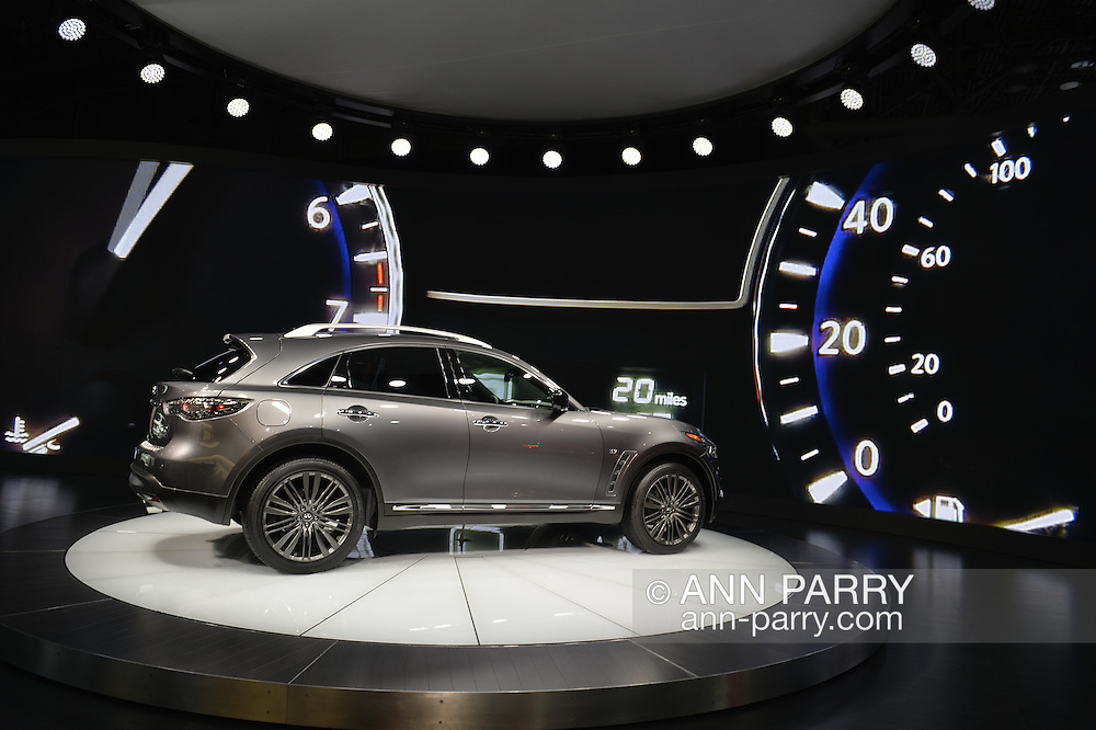The Infiniti QX70 is on display at the New York International Auto Show 2016, at the Jacob Javits Center. This was Press Preview Day one of NYIAS, and the Trade Show will be open to the public for ten days, March 25th through April 3rd.