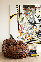Art and Chair Detail. Interior designed by Andee Hess of Osmose