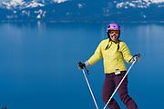 Spring skiing Diamond Peak Ski Resort in Incline Village. The best views of Lake Tahoe while skiing.