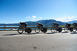 Wiggle High5 at Giro Rosa 2018 - Stage 1, a 15.5 km team time trial in Verbania, Italy on July 6, 2018. Photo by Sean Robinson/velofocus.com