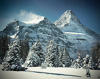 Mount Assiniboine in winter, Mounta Assiniboine Provincial Park British Columbia Canada