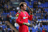 Tranmere Rovers' goalkeeper Owain Fon Williams looks on. Skybet football league 1 match, Tranmere Rovers v Carlisle United at Prenton Park in Birkenhead, England on Saturday 29th March 2014.<br /> pic by Chris Stading, Andrew Orchard sports photography.