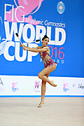 "Basta Anna during clubs routine at the International Tournament of rhythmic gymnastics ""Città di Pesaro"", 02 April, 2016. Anna is an Italian gymnast, born on January 23, 2000 in Bologna.<br />