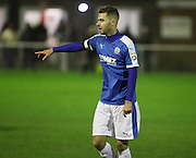 Dover midfielder Nicky Deverdics during the FA Trophy match between Whitehawk FC and Dover Athletic at the Enclosed Ground, Whitehawk, United Kingdom on 12 December 2015. Photo by Bennett Dean.