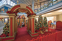 The Mall in Columbia MD holiday decorations image by Jeffrey Sauers of Commercial Photographics
