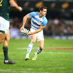 DURBAN, SOUTH AFRICA - AUGUST 18: Nicolas Sanchez of Argentina during the Rugby Championship match between South Africa and Argentina at Jonsson Kings Park on August 18, 2018 in Durban, South Africa. (Photo by Steve Haag/Gallo Images)