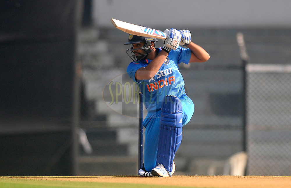 Rohit Sharma of India bats during the practice match between India A and Sri Lanka held at the CCI Stadium, Mumbai,  India on the 30th October 2014<br /> <br /> Photo by:  Pal Pillai/ Sportzpics/ BCCI