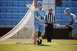 CHAPEL HILL, NC - MARCH 02: Jack Pezzulla #42 of the North Carolina Tar Heels during a game against the Denver Pioneers on March 02, 2019 at the UNC Lacrosse and Soccer Stadium in Chapel Hill, North Carolina. Denver won 12-10. (Photo by Peyton Williams/US Lacrosse)