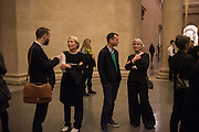 EMILY KING; MATTHEW SLOTOVER; TERESA GLEADOWE, Opening for Nick Waplington's Alexander McQueen photography exhibition and Christina Mackie's Tate Britain Commission. Tate Britain. London. 23 March 2015