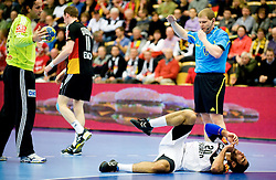 14.01.2011, FFS Arena, Lund, SWE, IHF Handball Weltmeisterschaft 2011, Herren, Deutschland (GER) vs Aegypten (EGY) im Bild, // Mohamed Keshk, Egypten. Domaren// during the IHF 2011 World Men's Handball Championship match Germany (GER) vs Egypt (EGY) at FFS Arena in Lund. . EXPA Pictures © 2011, PhotoCredit: EXPA/ nph/  Bildbyrån   76200       ****** out of GER / SWE / CRO ******