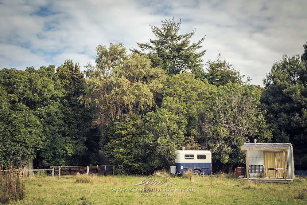 A mini trailer and kiwi bach, New Zealand