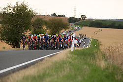 The peloton rolls through the countryside in the second lap on Stage 2 of the Lotto Thuringen Ladies Tour - a 102.9 km road race, starting and finishing in Dortendorf on July 14, 2017, in Thuringen, Germany. (Photo by Balint Hamvas/Velofocus.com)