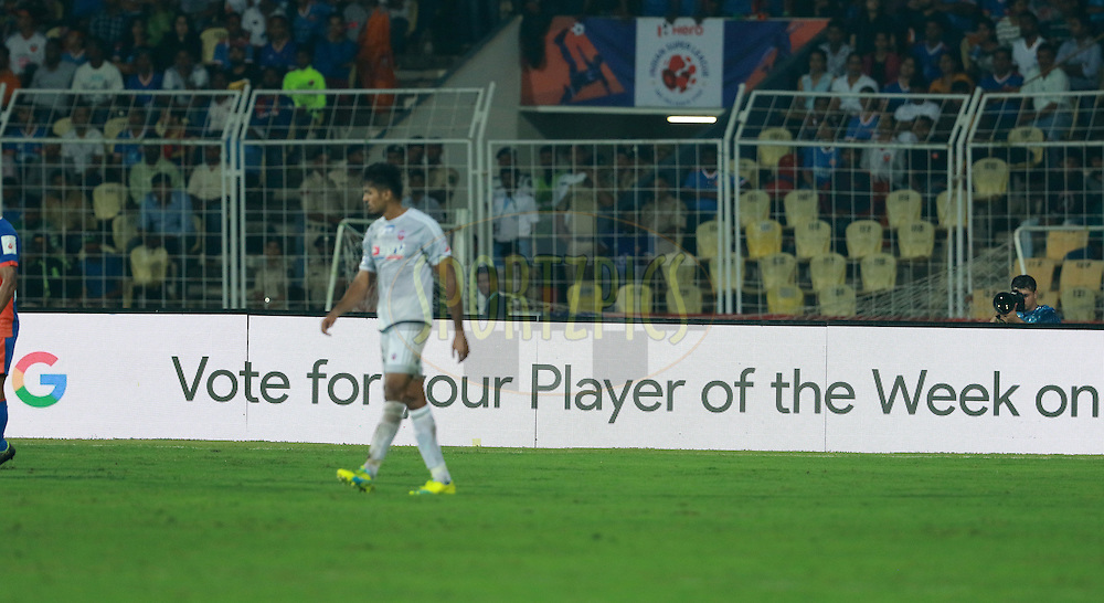 during match 8 of the Indian Super League (ISL) season 3 between FC Goa and FC Pune City held at the Fatorda Stadium in Goa, India on the 8th October 2016.<br /> <br /> Photo by Vipin Pawar / ISL/ SPORTZPICS