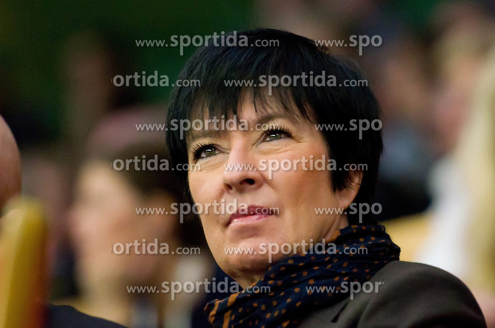20.10.2012, Kungliga Tennis Halle, Stockholm, SWE, ATP, Stockholm Open, im Bild Mona Sahlin watching the game// during the ATP Stockholm Open at the Kungliga Tennis Halls, Stockholm, Sweden on 2012/10/20. EXPA Pictures © 2012, PhotoCredit: EXPA/ PicAgency Skycam..***** ATTENTION - OUT OF SWE *****