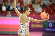 Arian Averring, Russia, during day one of the 33rd European Rythmic Gymnastics at Papp Laszlo Budapest Sports Arena, Budapest, Hungary on 19 May 2017. Photo by Myriam Cawston.
