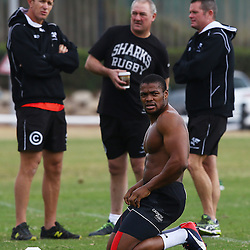 DURBAN, SOUTH AFRICA Monday 29th June 2015 - Sibusiso Sithole during the Cell C Sharks Conditioning training session at Growthpoint Kings Par in Durban, South Africa. (Photo by Steve Haag)