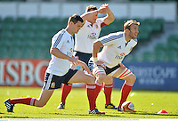4 June 2013; Jonathan Sexton, British & Irish Lions, stretches during the captain's run ahead of their game against Western Force on Wednesday. British & Irish Lions Tour 2013, Captain's Run, Nib Stadium, Pier Street, Perth, Australia. Picture credit: Stephen McCarthy / SPORTSFILE
