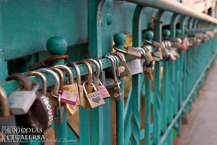 Le pont metallique Most Tumski est le rendez-vous des amoureux pour celler leur amour