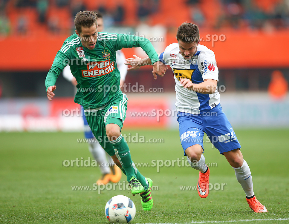 28.02.2016, Ernst Happel Stadion, Wien, AUT, 1. FBL, SK Rapid Wien vs SV Groedig, 24. Runde, im Bild Stefan Nutz (SK Rapid Wien) und Lukas Denner (SV Groedig) // during a Austrian Football Bundesliga Match, 24th Round, between SK Rapid Vienna and SV Groedig at the Ernst Happel Stadion, Vienna, Austria on 2016/02/28. EXPA Pictures © 2016, PhotoCredit: EXPA/ Thomas Haumer