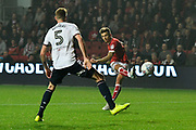 Jamie Paterson (20) of Bristol City shoots at goal during the EFL Sky Bet Championship match between Bristol City and Bolton Wanderers at Ashton Gate, Bristol, England on 26 September 2017. Photo by Graham Hunt.