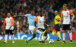Gabriel Jesus of Manchester City challenges Fred of Shakhtar Donetsk - Mandatory by-line: Matt McNulty/JMP - 26/09/2017 - FOOTBALL - Etihad Stadium - Manchester, England - Manchester City v Shakhtar Donetsk - UEFA Champions League Group stage - Group F