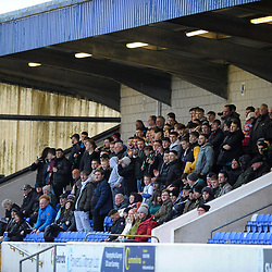 TELFORD COPYRIGHT MIKE SHERIDAN AFC Telford fans during the Vanarama Conference North fixture between AFC Telford United and Chester at the 1885 Arena Deva Stadium on Saturday, December 21, 2019.<br /> <br /> Picture credit: Mike Sheridan/Ultrapress<br /> <br /> MS201920-035