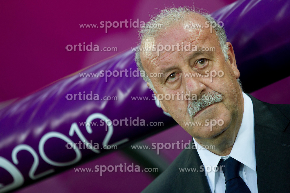 Vicente del Bosque, head coach of Spain during the UEFA EURO 2012 group C match between  Croatia and Spain at PGE Arena Gdansk on June 18, 2012 in Gdansk / Danzig, Poland. Spain defeated Croatia and qualified to Quarterfinals. (Photo by Vid Ponikvar / Sportida.com)