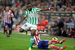 27.10.2013, Estadio Vicente Calderon, Madrid, ESP, Primera Division, Atletico Madrid vs Real Betis, 10. Runde, im Bild Real Betis Cedrick // Real Betis Cedrick during the Spanish Primera Division 10th round match between Club Atletico de Madrid and Real Betis at the Estadio Vicente Calderon in Madrid, Spain on 2013/10/28. EXPA Pictures © 2013, PhotoCredit: EXPA/ Alterphotos/ Victor Blanco<br /> <br /> *****ATTENTION - OUT of ESP, SUI*****