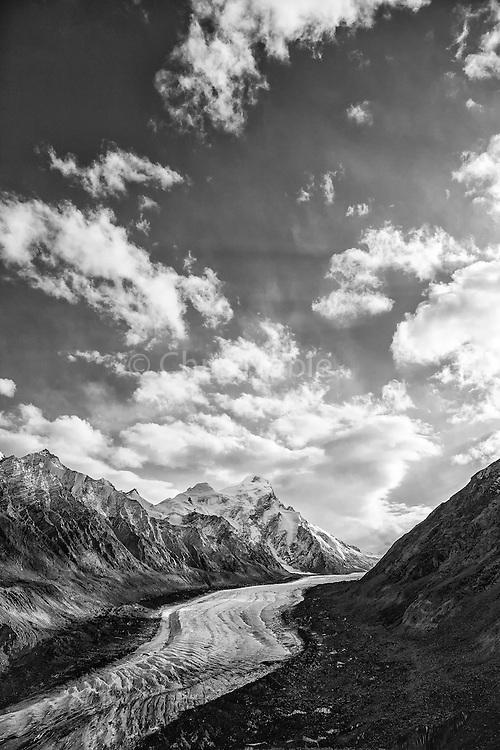 Peaks above the Darang Durung Glacier near the Pensi La Pass in Zanskar.
