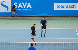 Andre Begemann (GER) and Albano Olivetti (FRA) playing doubles Semifinal against Nikola Cacic (SRB) and Lucas Miedler (AUT) during Day 7 at ATP Challenger Zavarovalnica Sava Slovenia Open 2018, on August 9, 2018 in Sports centre, Portoroz/Portorose, Slovenia. Photo by Vid Ponikvar / Sportida