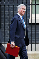 © Licensed to London News Pictures. 27/01/2015. LONDON, UK. Defence Secretary Michael Fallon attending to a cabinet meeting in Downing Street on Tuesday, 27 January 2015. Photo credit: Tolga Akmen/LNP
