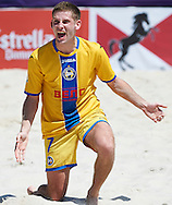 Barcelona, Spain -  May, 2: <br /> Barcelona Beach Soccer Cup 2015 at Port Olímpic on May 2, 2015 in Barcelona ,Spain. (Photo by Lea Weil)