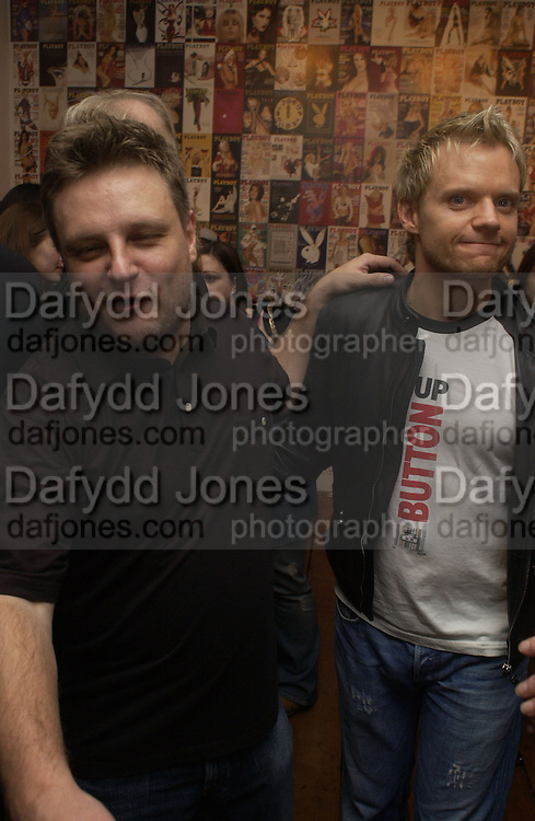 Rankin and Mark Warren. 'Playboy Exposed' Private View at the Sony Ericsson Proud Camden on October 19, 2005 in London 19  October 2005. ONE TIME USE ONLY - DO NOT ARCHIVE © Copyright Photograph by Dafydd Jones 66 Stockwell Park Rd. London SW9 0DA Tel 020 7733 0108 www.dafjones.com