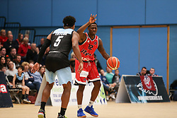 Jalan McCloud of Bristol Flyers in possession - Photo mandatory by-line: Arron Gent/JMP - 28/04/2019 - BASKETBALL - Surrey Sports Park - Guildford, England - Surrey Scorchers v Bristol Flyers - British Basketball League Championship
