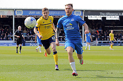 Jon Taylor of Peterborough United gets away from Conor Townsend of Scunthorpe United - Mandatory by-line: Joe Dent/JMP - 23/04/2016 - FOOTBALL - ABAX Stadium - Peterborough, England - Peterborough United v Scunthorpe United - Sky Bet League One