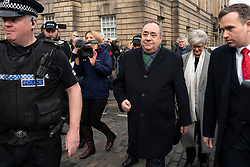 Edinburgh, Scotland, UK. 21st November 2019. Alex Salmond appears at High Court in Edinburgh for a preliminary criminal hearing. The former SNP First Minister is charged with attempted rape and scheduled to go on trial next year. Iain Masterton/Alamy Live News.