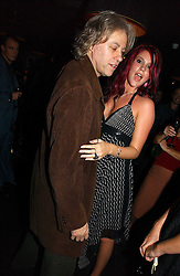 JOSS STONE and BOB GELDOF at a Black, White and Gold party to celebrate the December 'Party' issue of Harper's Bazaar featuring the 'Going Out' Guide in association with Moet & Chandon  held at Ronnie Scotts, 47 Frith Street, London on 16th November 2006.<br /><br />NON EXCLUSIVE - WORLD RIGHTS