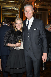 JOANNE MILNER Debrett's chief executive Joanne Milner and RICHARD THOMPSON Chairman – Debrett's People of Today at a reception to celebrate the Debrett's 500 2015 - a recognition of Britain's 500 most influential people, held at The Club at The Cafe Royal, 68 Regent Street, London on 26th January 2015.