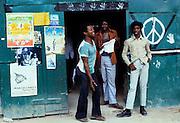 Rude Boys outside a rum Bar - Urban Jamaica