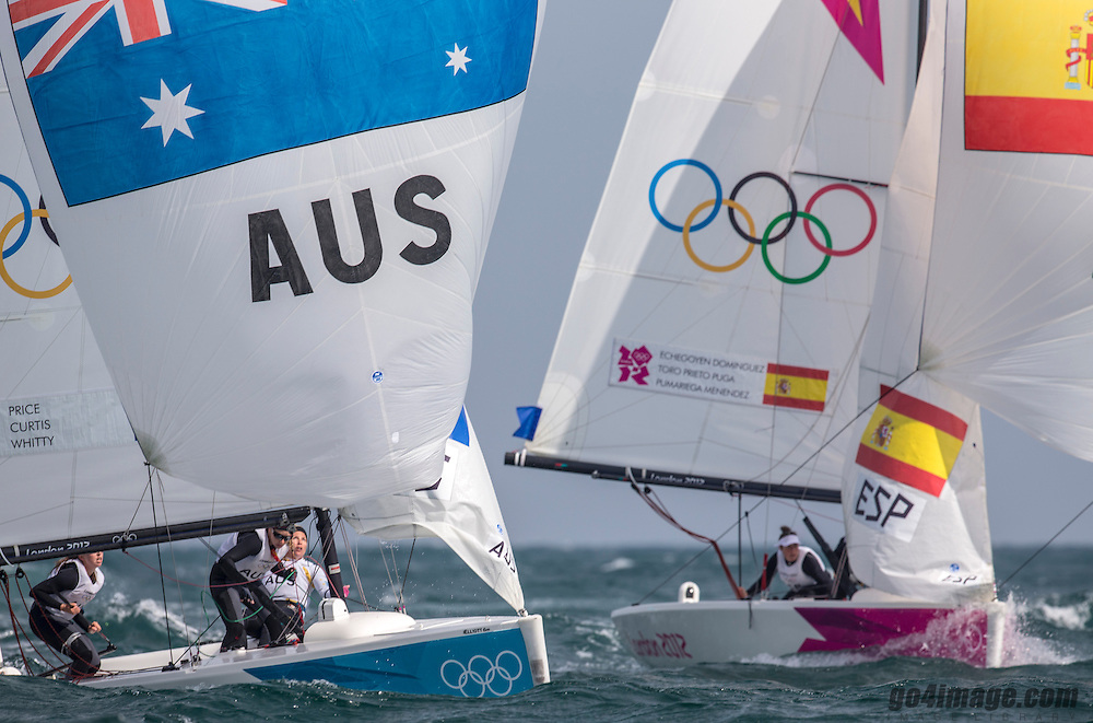 GOLD:<br /> Echegoyen Tamara, Toro Sofia, Pumariega Angela, (ESP, Match Race)<br /> Curtis Nina, Whitty Lucinda, Price Olivia, (AUS, Match Race)<br /> <br /> 2012 Olympic Games <br /> London / Weymouth
